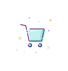 concept cart icon thin line flat design element vector image