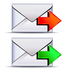 Contact email send icon vector image