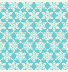 Decorative pattern background in teal and cream vector