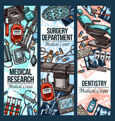 Dentistry surgery and medical research vector