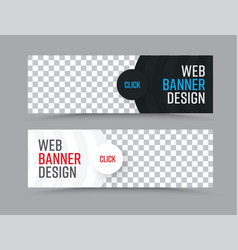 design of horizontal web banners with a place for vector image