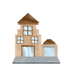 drawing real estate apartment building vector image