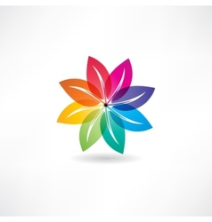 eco leaf abstraction icon vector image
