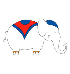 elephant in suit on white background vector image