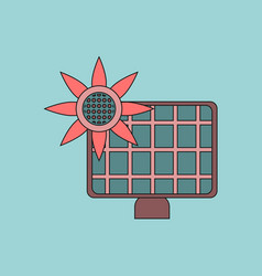 Flat icon design collection solar battery vector