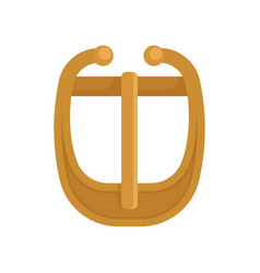 Flat icon gold-plated metal buckle vector