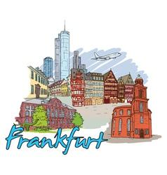 Frankfurt doodles vector