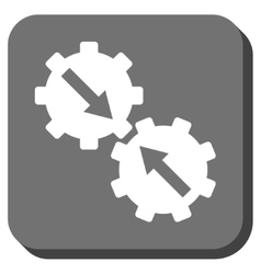 Gear Integration Rounded Square Icon vector image