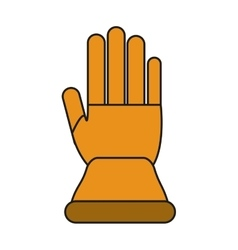 Glove of industrial security design vector