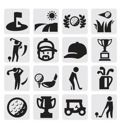 Golf Icons vector image