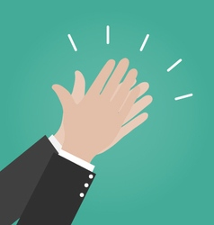 Hands clapping icons Applause icon Congratulation vector image