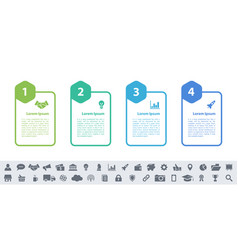 Infographic design business concept with 4 steps vector