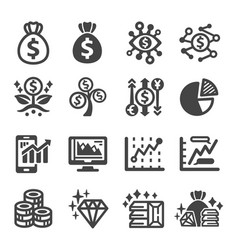 investment icon vector image