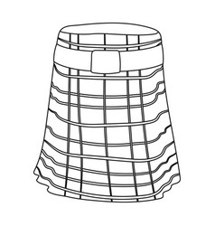 kilt icon in outline style isolated on white vector image