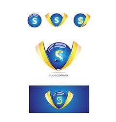 Letter s sphere 3d logo vector