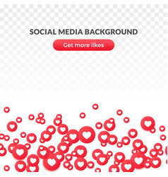 Like heart icon background red round symbol for vector