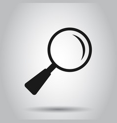 Loupe sign icon in flat style magnifier on vector