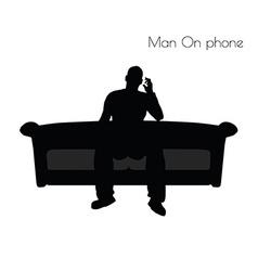 Man On phone pose vector