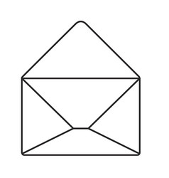 monochrome silhouette of opened envelope vector image