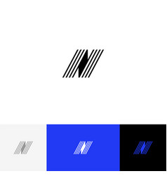 n with lines minimalism logo letters n vector image