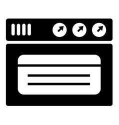 oven icon simple style vector image