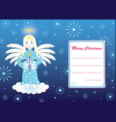 postcard with angel vector image