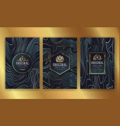 premium luxury packaging design with heraldic vector image