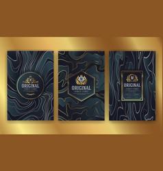 Premium luxury packaging design with heraldic vector