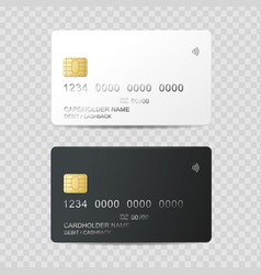 realistic detailed 3d plastic credit card template vector image