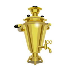 realistic detailed 3d russian samovar vector image