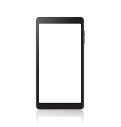 realistic smartphone mockup with white screen vector image