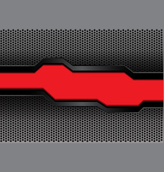 red black futuristic banner on hexagon mesh vector image