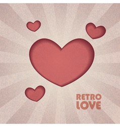 retro valentine heart vector image