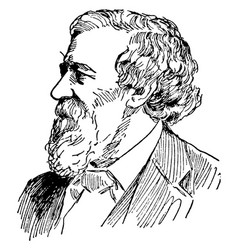 Robert browning vintage vector