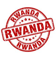 Rwanda red grunge round vintage rubber stamp vector