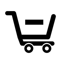 shopping cart vector image