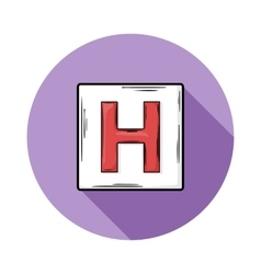Sign hospitals icon vector image vector image
