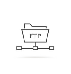 Simple thin line ftp folder icon vector