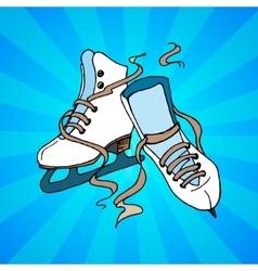 skate vector image