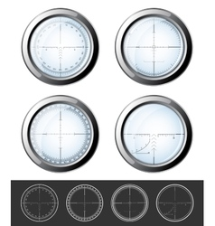 Sniper crosshairs set vector