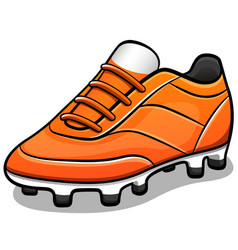 soccer shoes design isolated vector image
