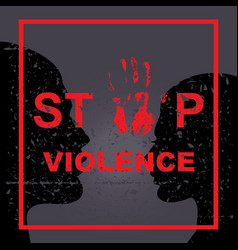 Stop violence sing vector