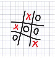 Tic-tac-toe game vector