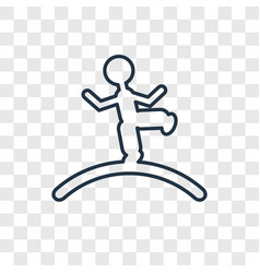 Tightrope walker man concept linear icon isolated vector