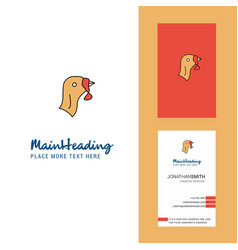 Turkey creative logo and business card vertical vector