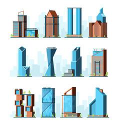 urban skyscrapers modern corporate office vector image