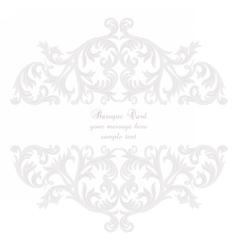 Vintage Baroque Rococo ornament card vector image
