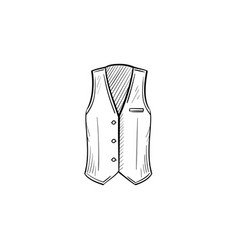 waistcoat hand drawn sketch icon vector image
