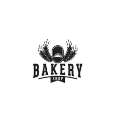 wheat grain and pastries bakery logo vector image
