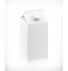 White cardboard milk package vector image